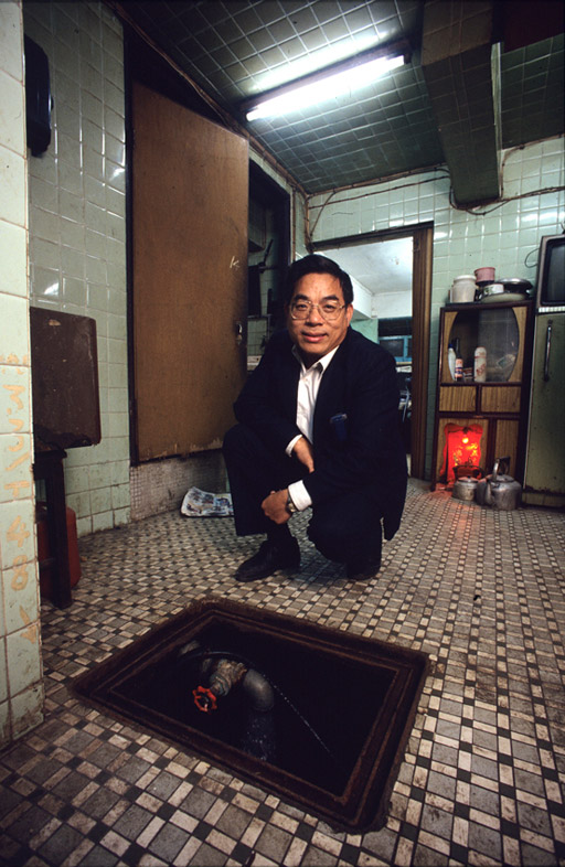 Chan Shing, one of the Walled City's private water suppliers