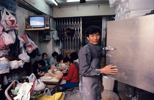 Lam Leung Po, owner of a fishball-making business on Tai Chang street