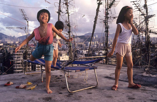 Rooftop children, names unknown