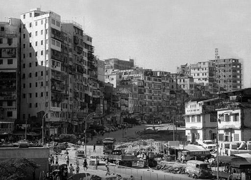 The view along Tung Tau Tsuen Road in 1973