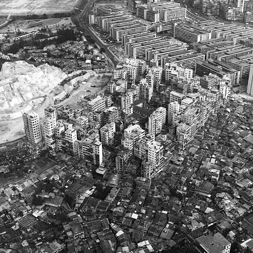 An aerial view from the south-west in 1975