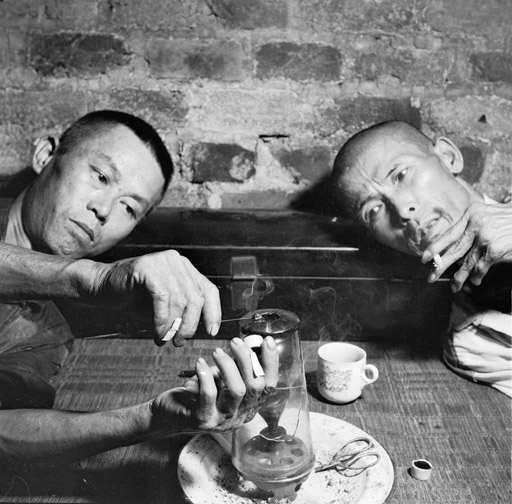 Smoking opium in Hong Kong in the 1950s