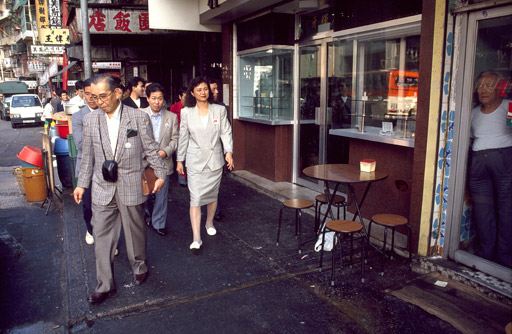 Japanese tourists vist the City in 1990