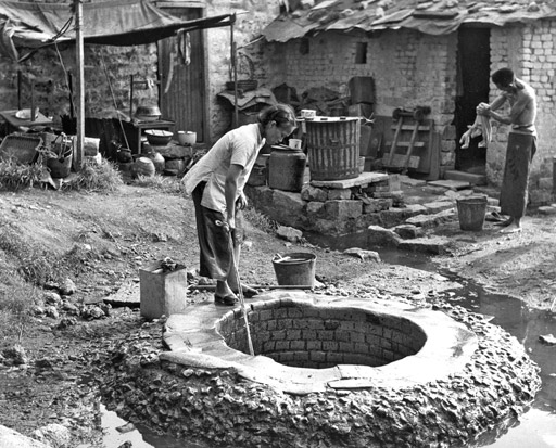 A traditional well outside the walls of the City in 1950