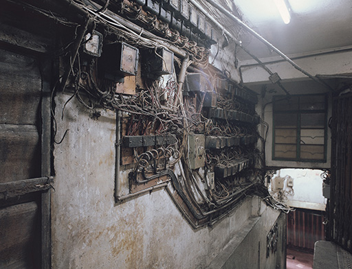 The mass of wiring around the meters made illegal extensions difficult to detect.